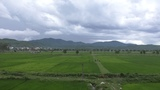 Incoming storm at Nghi Loc, Vietnam - Timelapse 40 min in 1 min by Drone