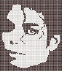 Схемы для вышивки с Майклом Джексоном, также из интернета, без авторства.