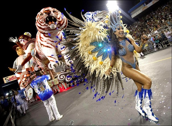 Яркие краски бразильского карнавала