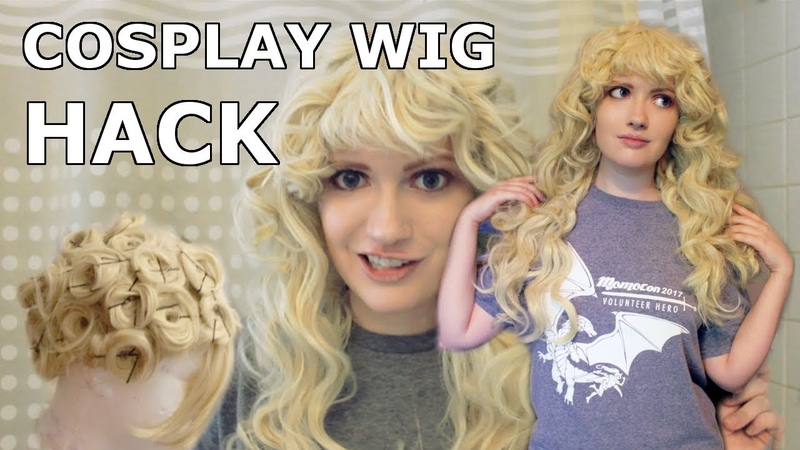 Tutorial Insane Cosplay Wig Volume with Pin Curls and Boiling