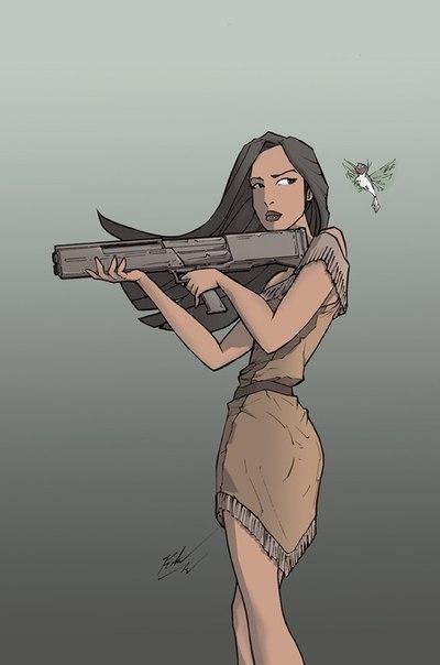 Воинственная Покахонтас