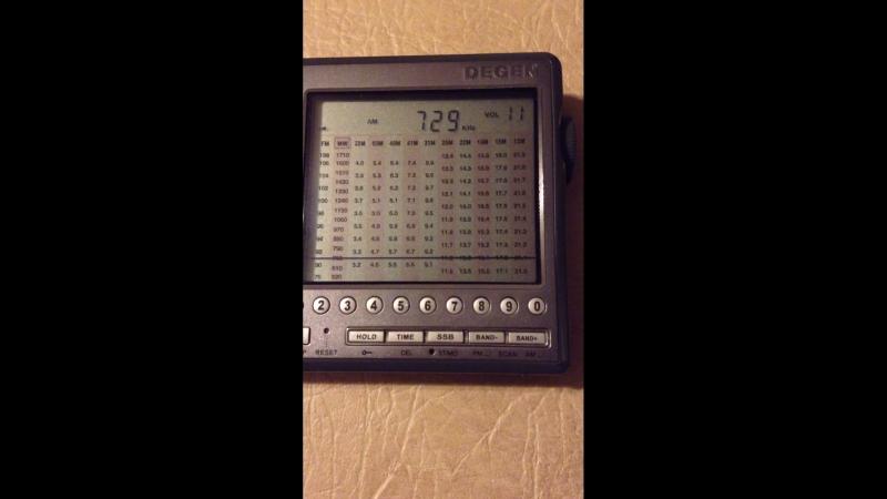 729 kHz ERA 1 Предпасхальное служение