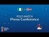 FIFA World Cup 2018 Nigeria - Iceland Nigeria v. Iceland - Post-Match PC