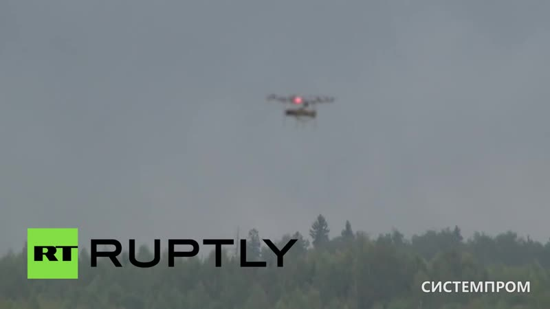 Russian combat drone footage- Military anti-tank multicopter in action