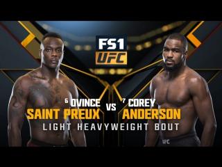 UFC 217 Полутяжелый вес Овинс Сент-Прю — Кори Андерсон