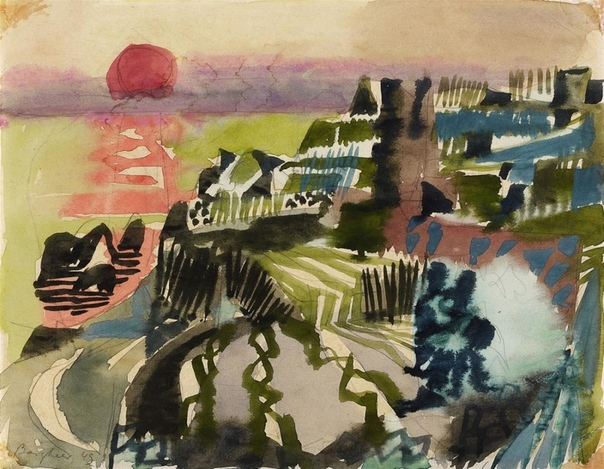 Eduard Bargheer, Tramonto,1949,
