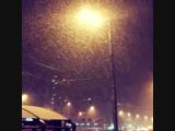 Первый снег в Москве! ❄️