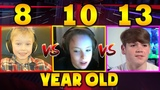 FORTNITE KID (8 vs 10 vs 13 Year Old) H1ghSky 1, Wintrrz, Mongraal - WHO IS BETTER