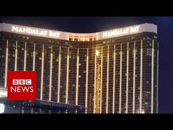 Moment police stormed Las Vegas gunman's room BBC News