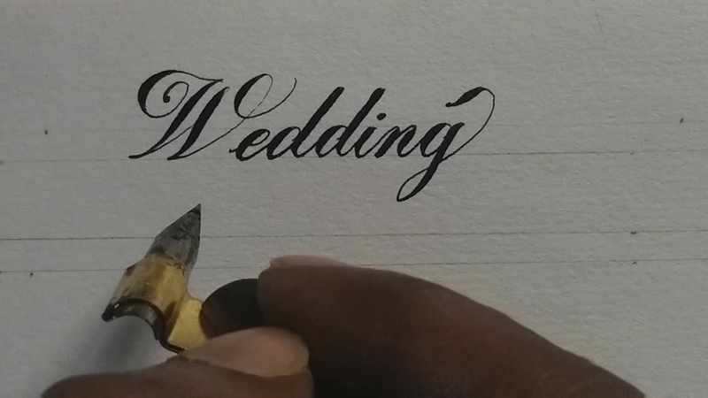 Satisfying calligraphy with copperplate | calligraphy