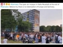 Germany The open air mosque in Halle Neustadt at the end of Ramadan Believe me there is no Islamization of Europe and German