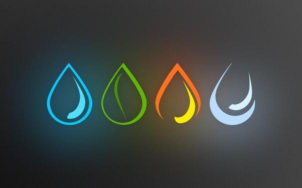 Стихії Вода, Вогонь, Земля, Повітря