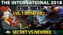 First LVL 1 Rosh KILL ON The International - Game of the DAY! Secret vs Newbee 80 Min Dota 2 TI8
