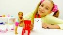Видео с куклами Барби и Челси как сделать кролика
