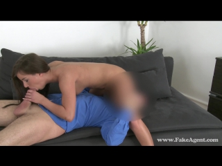 FakeAgent.com: Shy brunette quits her job to be a porn star (2015) HD