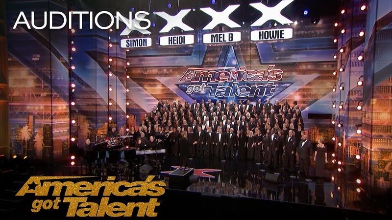 Angel City Chorale Massive Choir Makes It Rain With Africa - Americas Got Talent 2018