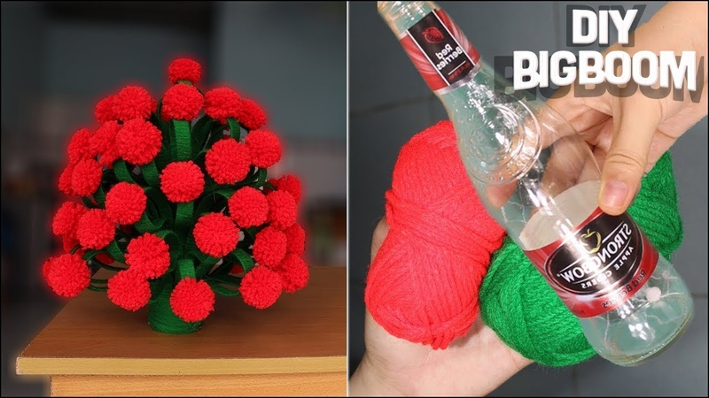 How to make Flower Vase At Home, Best use of X-rays and wool | DBB