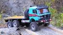 Mercedes Benz 3853 6x6 RC Crawler Truck on Cross RC MC6 Base
