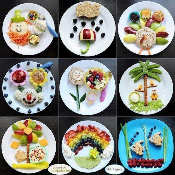 Идеи украшения завтраков для детей и с детьми