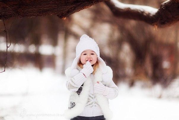 фото в снегу