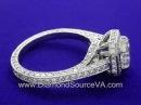 Radiant Cut Diamond Ring 1.11-carat 1.12 tcw pave diamonds