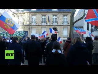 France: Anti-Maidan protesters rally for Donbass in Paris