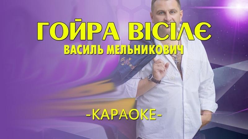Гойра вісілє - Василь Мельникович (Караоке)