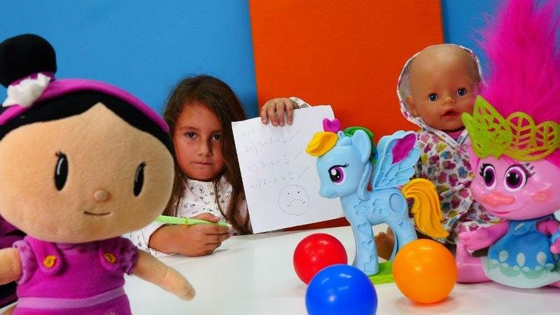 Bebek oyunları. Şila ve arkadaşları okulda sınava giriyorlar
