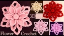 Como hacer flores 3D tejidas a Crochet Irlandés paso a paso tejido tallermanualperu