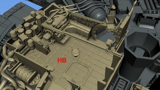 3D Printable Millennium Falcon Interior Engine Main Hold Kit 3