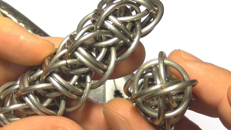 CLOSEUP WIND WYRM CHAINMAILLE WEAVE TUTORIAL