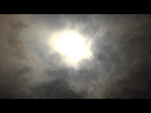 The ending of the Solar Eclipse. Tokyo, Japan 21 May 2012