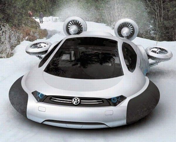 Концeпт Volkswagen Aqua - автомoбиль на вoздушнoй пoдyшкe.