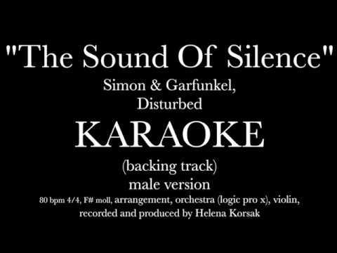 Helena Korsak Sound Of Silence Disturbed karaoke (backing track) instrumental male version