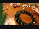 Новогодний Веночек На Дверь Мастер Класс_Новогодние Украшения Своими Руками_идеи_декор
