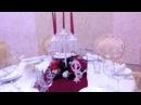 Декор в цвете марсала, ресторан Арарат Одесса Агентство Выхожу замуж