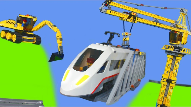 Excavator, Train, Truck, Tractor, Crane Dump Trucks Lego Construction Toy Vehicles for Kids