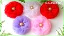 Цветы из органзы/ DIY Organza Ribbon Flowers/ Flor de organza facil/ Ola ames DIY