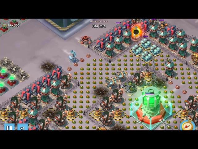 Пример снятия РУ под лучами тройным пультом Massive attack Maze 4 attacks