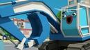 мультики про машинки экскаватор играет в мяч