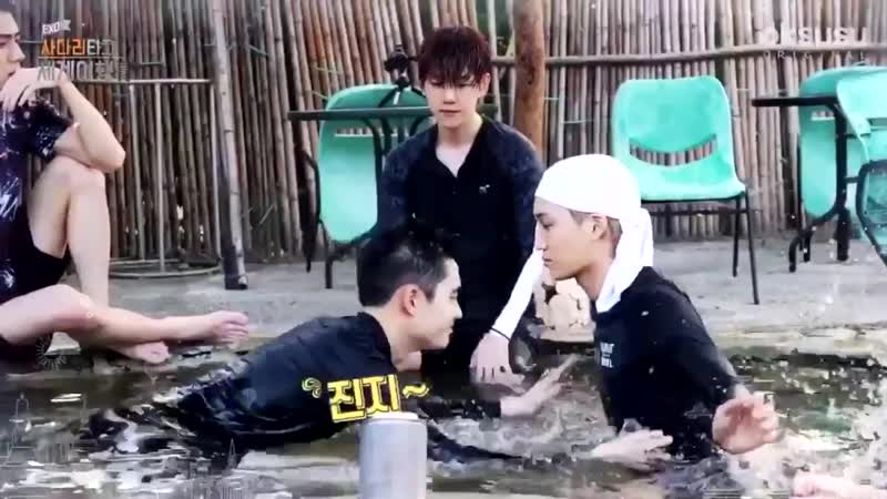 [VIDEO] 190121 Попа ДиО выглянула из воды :3 @ Travel The World on EXO's Ladder S2 EP 1