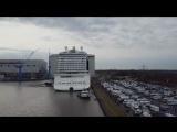 Float Out-Ausdocken Norwegian Joy 04.03.2017 - Meyer Werft - Drone Shots  - Look at the Racetrack