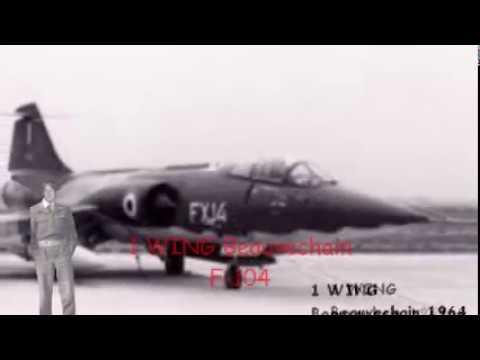 Marche de la force aérienne belge F=104 Beauvechain 1 WING