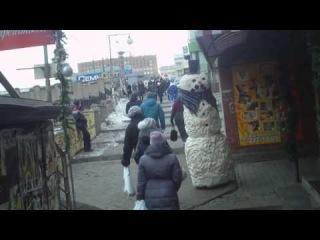 Жуткий снеговик во Владивостоке сезон 1 эпизод 2 Харе Кришна :)