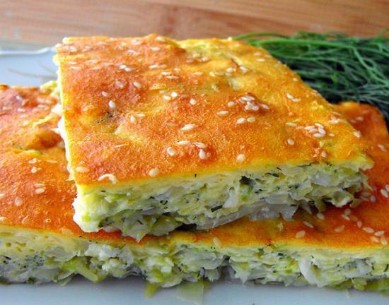 Диетический капустный пирог на кефире рецепт