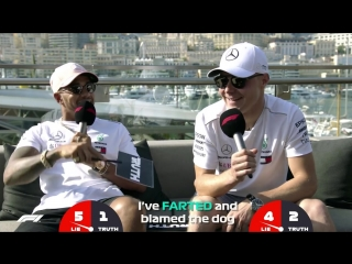 Mercedes' Lewis Hamilton And Valtteri Bottas | Grill The Grid Truth Or Lie