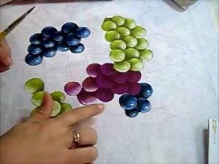 Uvas - Grapes - Pintura em Tecido