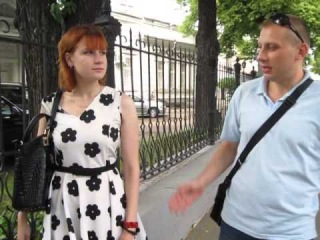 Пикет у посольства Индии. Гузев Павел и Малькова Ирина Партия МММ