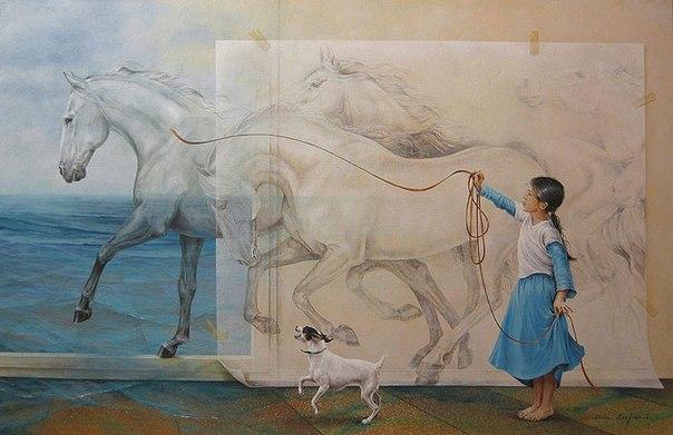 Магический реализм художницы Sanjuan Chelin Piquero
