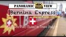 Bernina Express The Mighty Train Switzerland Davos Platz to Tirano Panoramic Highlights